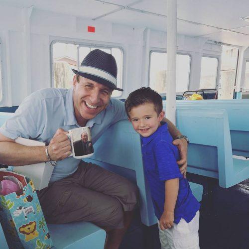 With my Godson CJ on the ferry fo fireisland happyfathersdayhellip
