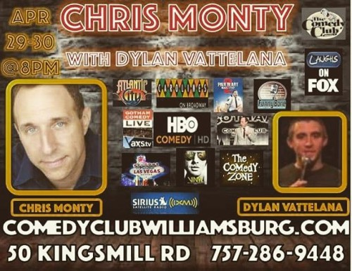 This coming weekend see CHRIS MONTY in Williamsburg VA! goodshowhellip